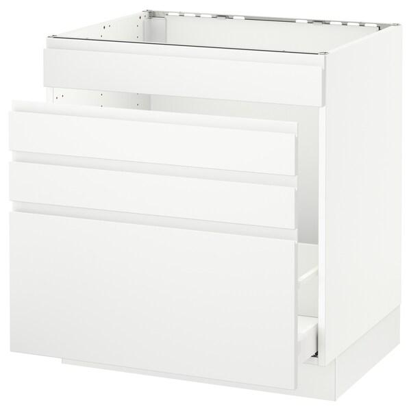 "SEKTION Base cabinet f/sink & waste sorting, white Maximera/Voxtorp matt white, 30x24x30 """