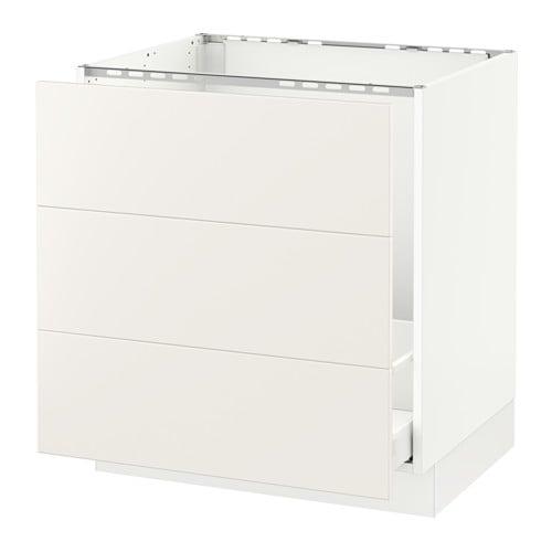 Ikea Kitchen Veddinge White: SEKTION Base Cabinet F/sink & Waste Sorting