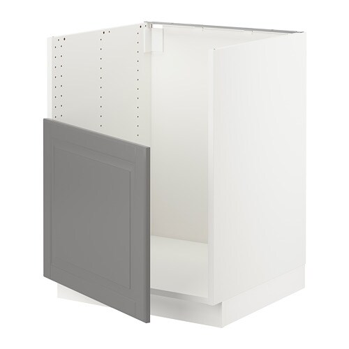 Sektion Base Cabinet For Bredsjon Sink White Bodbyn Gray