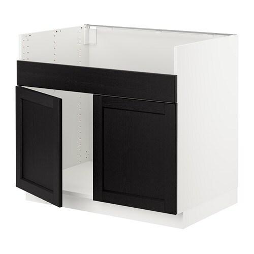 Black Kitchen Sink Ikea: SEKTION Base Cabinet For HAVSEN 2 Bowl Sink
