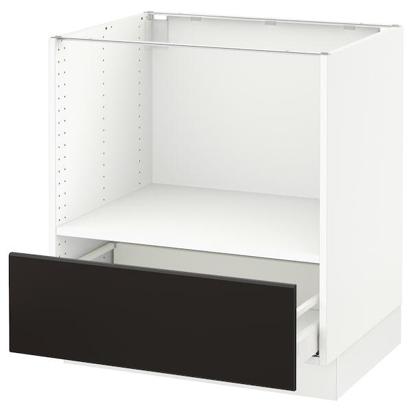 Sektion Base Cabinet For Microwave 1 Drawer White Maximera