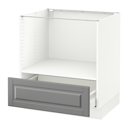 Sektion base cabinet for microwave 1 drawer white ma for Who makes ikea microwaves