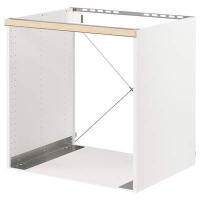 "SEKTION Base cabinet for oven, white/Askersund light ash effect, 30x24x30 """