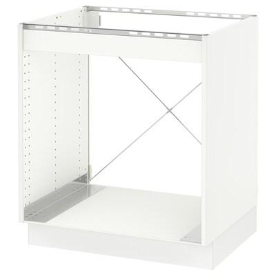"""SEKTION Base cabinet for oven, white/Voxtorp matt white, 30x24x30 """""""