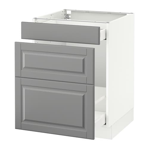 Sektion Base Cabinet For Recycling White Bodbyn Gray