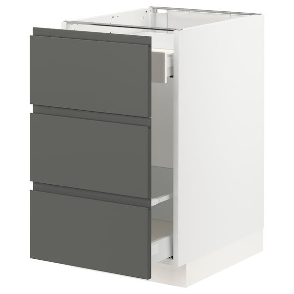 """SEKTION Base cabinet for recycling, white Maximera/Voxtorp dark gray, 18x24x30 """""""