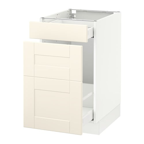 Sektion base cabinet for recycling white grimsl v off for Ikea sektion kitchen cabinets