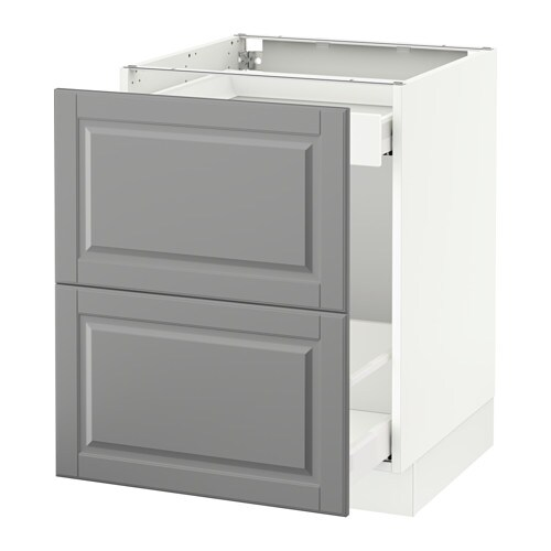 Sektion Base Cabinet For Recycling White Bodbyn Gray 24x24x30 Ikea