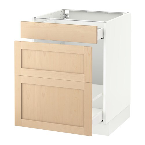 Sektion Base Cabinet For Recycling White Bj Rket Birch