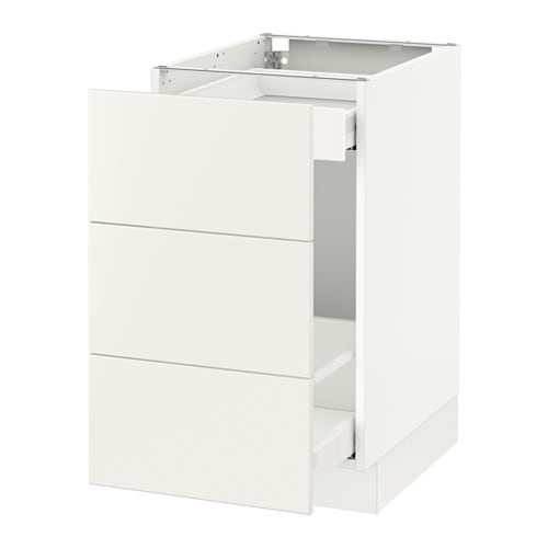 Sektion Base Cabinet For Recycling White Veddinge White