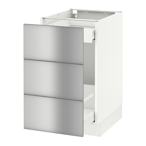 Sektion Base Cabinet For Recycling White Grevsta