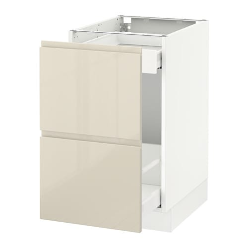 Sektion base cabinet for recycling white voxtorp high for White gloss kitchen base units