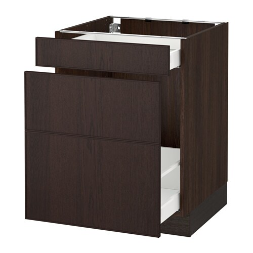 Sektion Base Cabinet For Recycling Wood Effect Brown