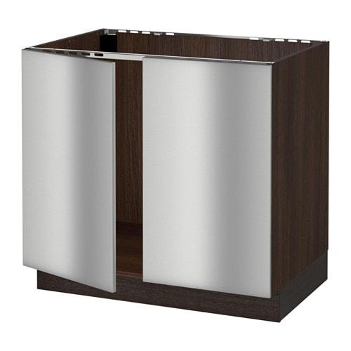 Steel Frame Kitchen Cabinets: SEKTION Base Cabinet For Sink + 2 Doors