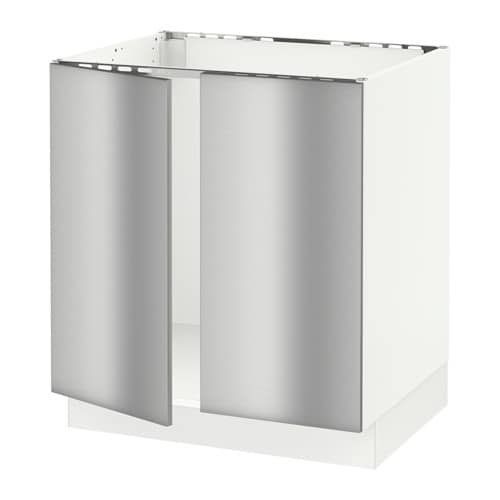 Restaurant Kitchen Cove Base: SEKTION Base Cabinet For Sink + 2 Doors