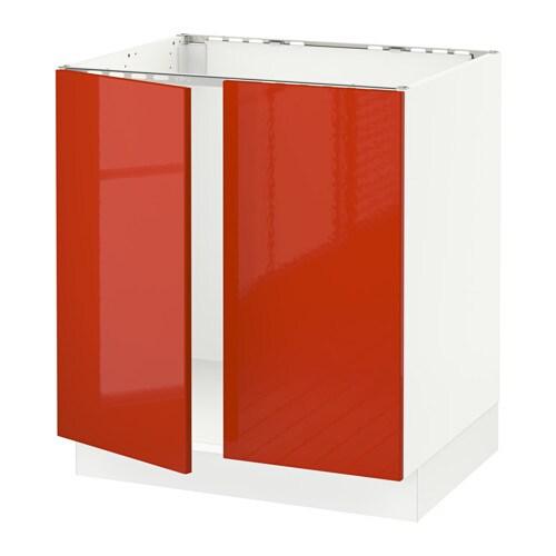 Sektion base cabinet for sink 2 doors white j rsta for Ikea in orange county