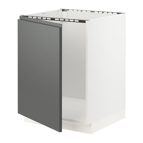Sektion Base Cabinet For Sink Voxtorp Dark Gray Ikea