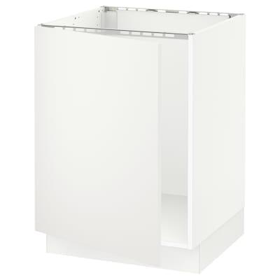 "SEKTION Base cabinet for sink, white/Häggeby white, 24x24x30 """