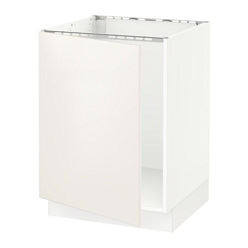 Ikea Kitchen Veddinge White: SEKTION Base Cabinet For Sink