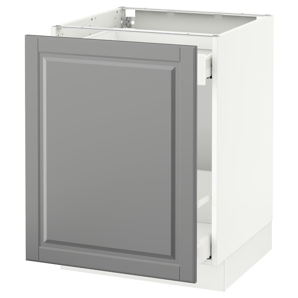 """SEKTION Base cabinet for sorting + 1 door, white Maximera/Bodbyn gray, 24x24x30 """""""