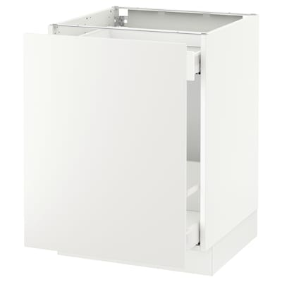 """SEKTION Base cabinet for sorting + 1 door, white Maximera/Häggeby white, 24x24x30 """""""