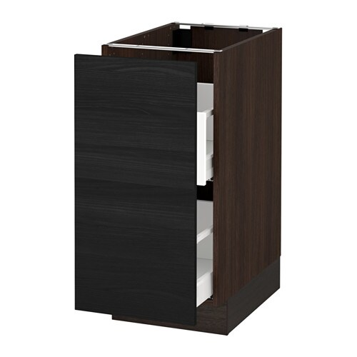 Sektion base cabinet for sorting 1 door wood effect for Wood effect kitchen cupboards