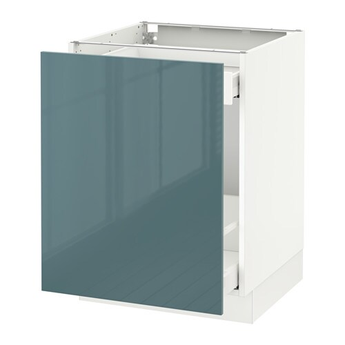 cabinet for sorting + 1 door, white Maximera, Kallarp gray turquoise