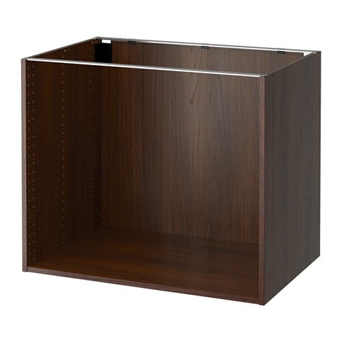 Ikea Kitchen Wood Cabinets: Wood Effect Brown, 36x24x30