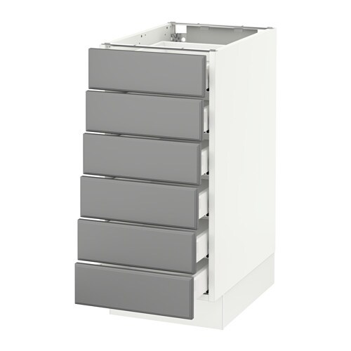 Sektion Base Cabinet 6 Fronts 6 Low Drawers White Ma Bodbyn Gray 15x24x30 Ikea