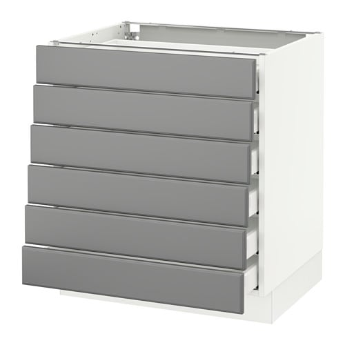 SEKTION Base cabinet/6 fronts/6 low drawers  sc 1 st  Ikea & SEKTION Base cabinet/6 fronts/6 low drawers - Ma Bodbyn gray ...