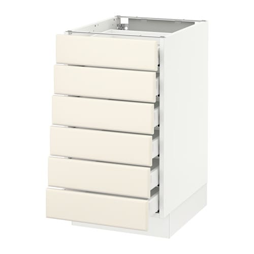 SEKTION Base Cabinet/6 Fronts/6 Low Drawers