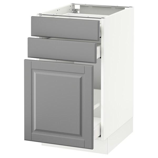 "SEKTION Base cabinet/p-out storage/2 drawer, white Maximera/Bodbyn gray, 18x24x30 """