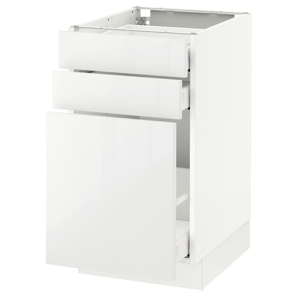 SEKTION Base cabinet/p-out storage/2 drawer, white Maximera/Ringhult white, 18x24x30 ""