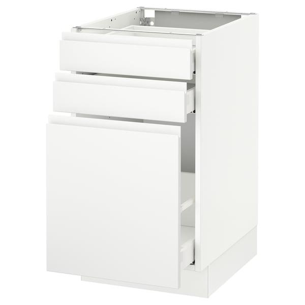"SEKTION Base cabinet/p-out storage/2 drawer, white Maximera/Voxtorp matt white, 18x24x30 """
