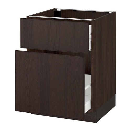 Sektion Base Cabinet P Out Storage Drawer Wood Effect