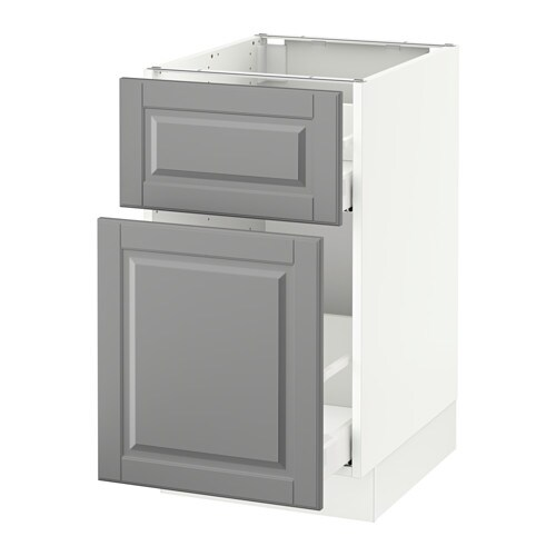 Sektion Base Cabinet P Out Storage Drawer White Bodbyn