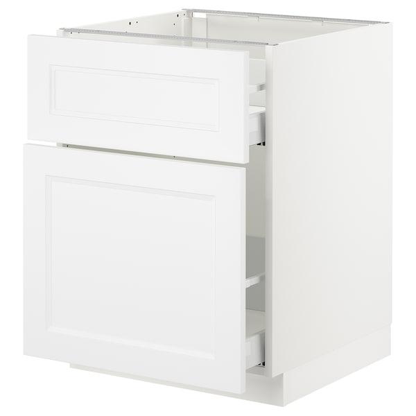 "SEKTION Base cabinet/p-out storage/drawer, white Maximera/Axstad matt white, 24x24x30 """