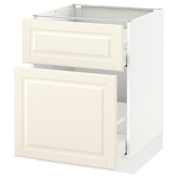 "SEKTION Base cabinet/p-out storage/drawer, white Maximera/Bodbyn off-white, 24x24x30 """