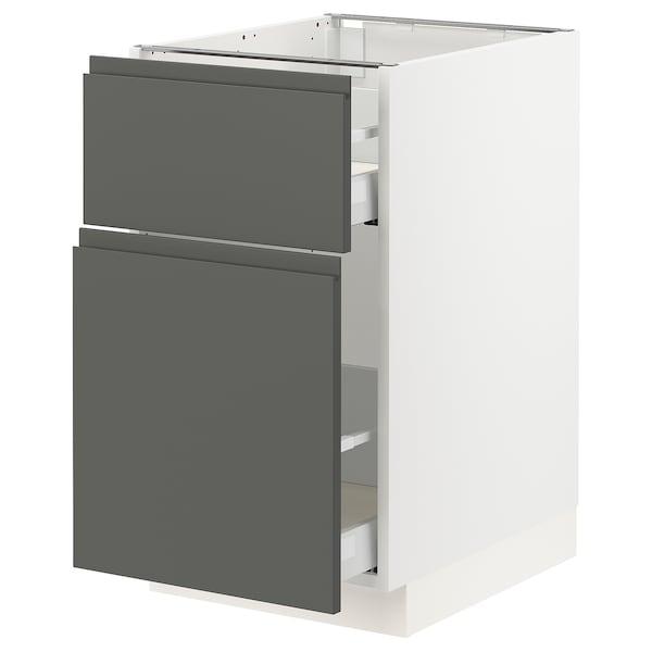 "SEKTION Base cabinet/p-out storage/drawer, white Maximera/Voxtorp dark gray, 18x24x30 """