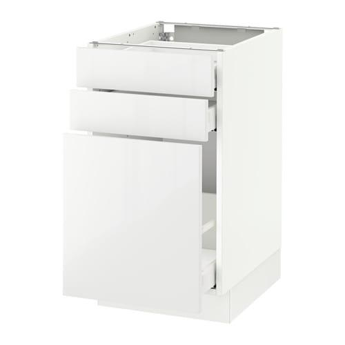 sektion base cabinet/p-out storage/2 drawer - white, ringhult high