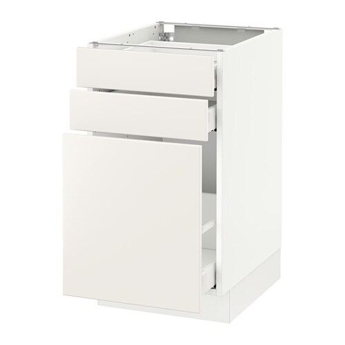 Sektion Base Cabinet P Out Storage 2 Drawer White