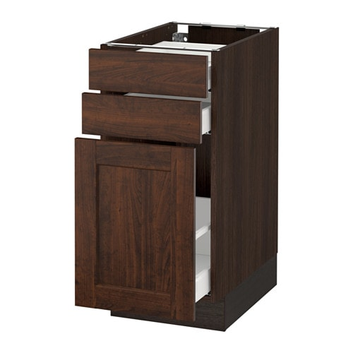 Sektion Base Cabinet P Out Storage 2 Drawer Wood Effect
