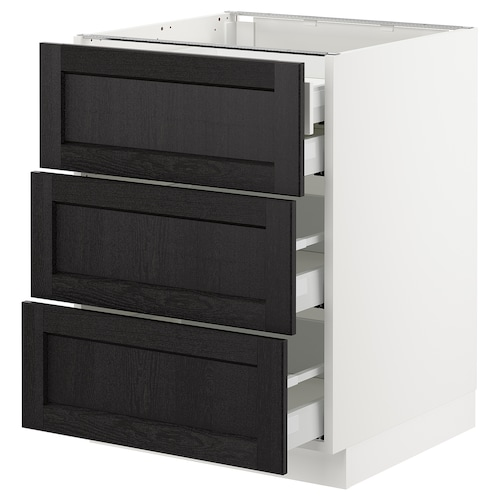 IKEA SEKTION Base cabinet w/3 fronts & 4 drawers