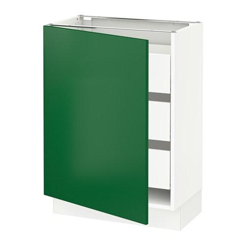Ikea Green Kitchen Cabinets: SEKTION Base Cabinet W/1 Door & 3 Drawers