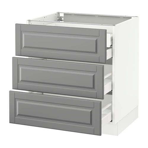 sektion base cabinet w 3 fronts 4 drawers white ma