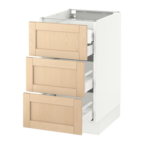 ikea cabinet fronts sektion base cabinet w 3 fronts amp 4 drawers white ma 17558