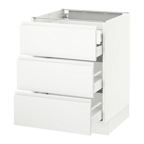 SEKTION Base Cabinet W/3 Fronts U0026 4 Drawers