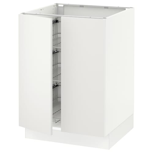 IKEA SEKTION Base cabinet w/wire basket+2 doors