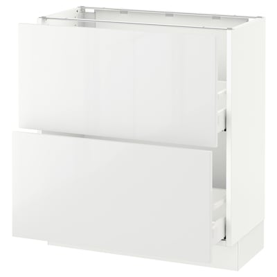 "SEKTION Base cabinet with 2 drawers, white Maximera/Ringhult white, 30x15x30 """