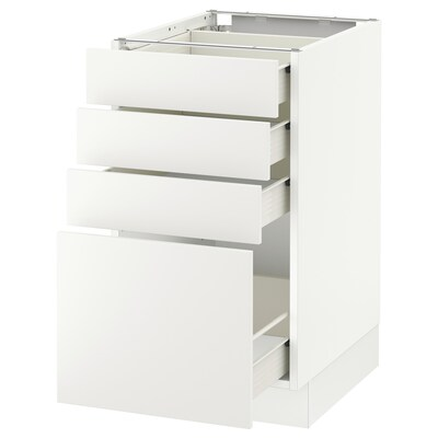 SEKTION Base cabinet with 4 drawers, white Förvara/Häggeby white, 18x24x30 ""